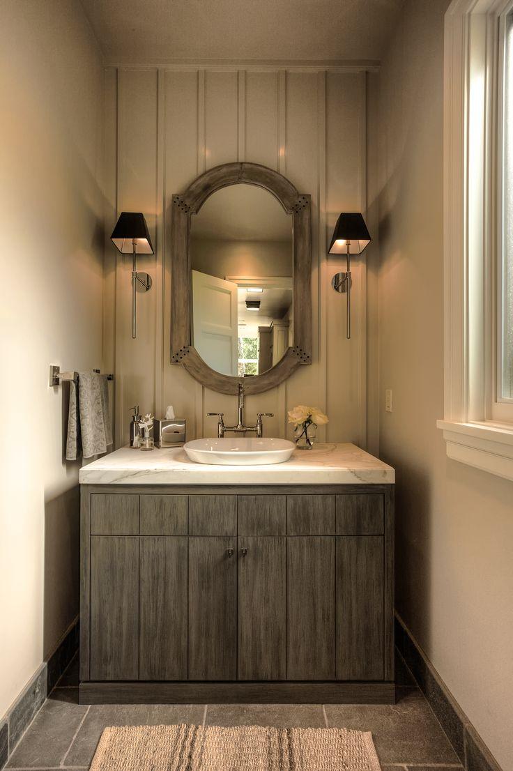 An Inspirational Powder Room Design! #TeerlinkCabinet #bathroom #bathroomcabinets #house #interior #interiordesign #design #powderroom #home #cabinetry #cabinets #furniturecabinets