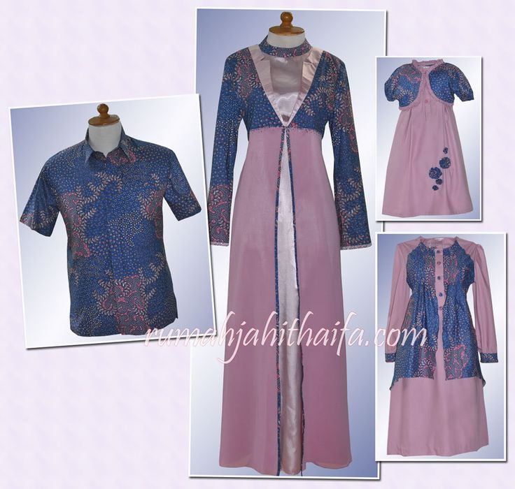 dress batik elegan kombinasi brokat - Google Search