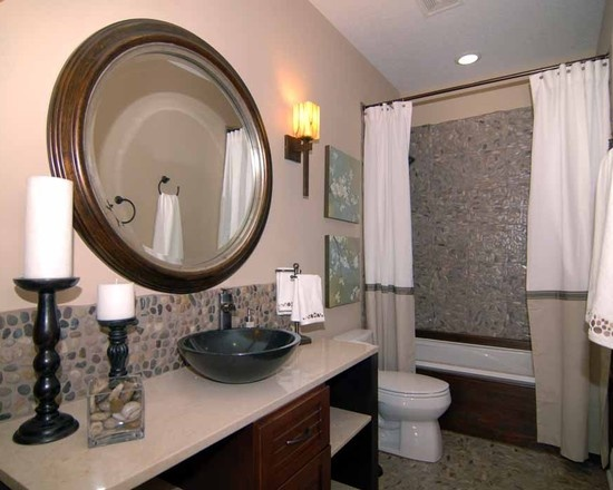 Cortinas De Baño Dobles:Two Shower Curtains