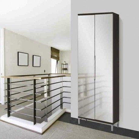Scarpiera maconi evolution 835 scarpiera con 2 ante a specchio battenti struttura in legno - Mobili a specchio ...