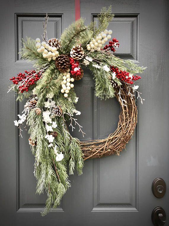 Winter Wreaths Christmas Wreath Evergreen Wreaths Berry