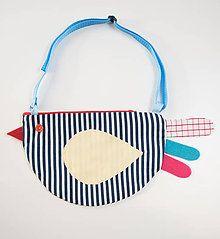 Detské tašky - kabelka sliepočka páskavá - 7523506_