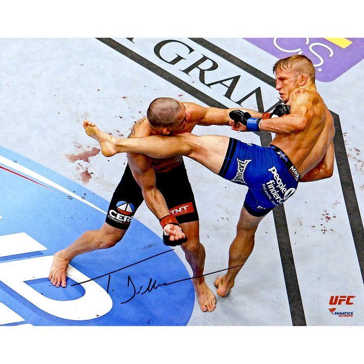 TJ Dillashaw Ultimate Fighting Championship Fanatics Authentic Autographed 8'' x 10'' Renan Barao Headkick Photograph - $54.99