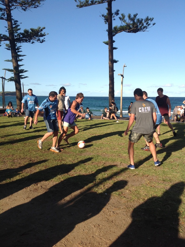 Soccer by the beach with Sydney FC stars!    www.schibellocaffe.com