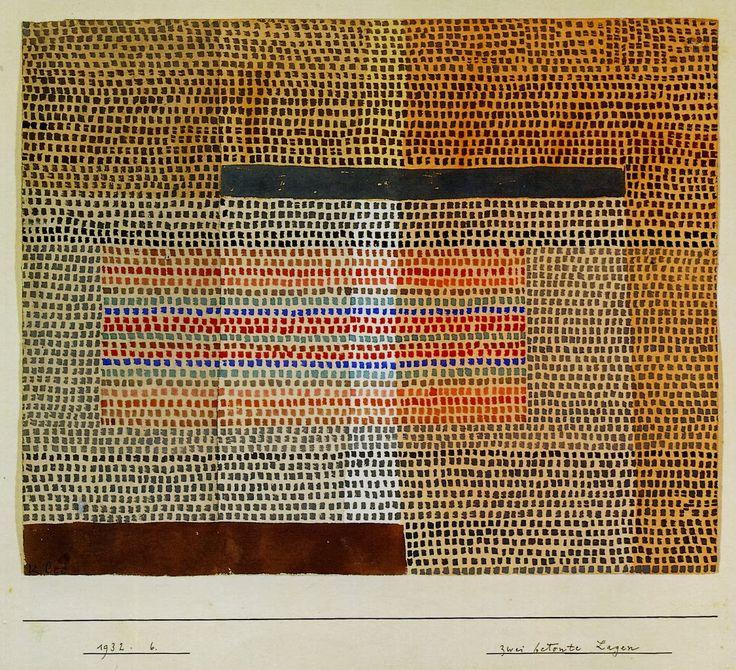 Zwei Betonte Lagen 1932 Paul Klee  via camera obscura