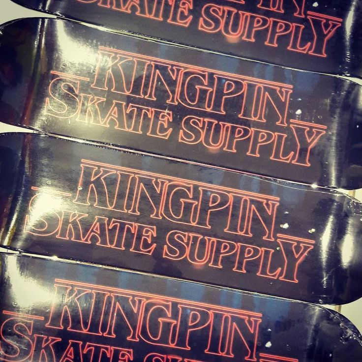 the unnerving upsidedown world has unraveled & unleashed supernatural forces cursing our new decks with this extraordinary graphic. #strangerthings  Wanna win one? Wot's 11s real name? Winner drawn at 1k likes