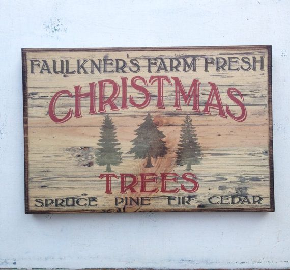 Personalized Vintage Farm Fresh Christmas by SouthernPressWorks