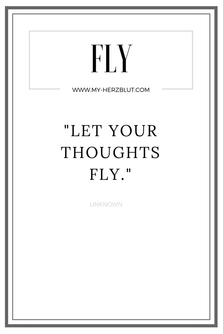 Let your thoughts fly...