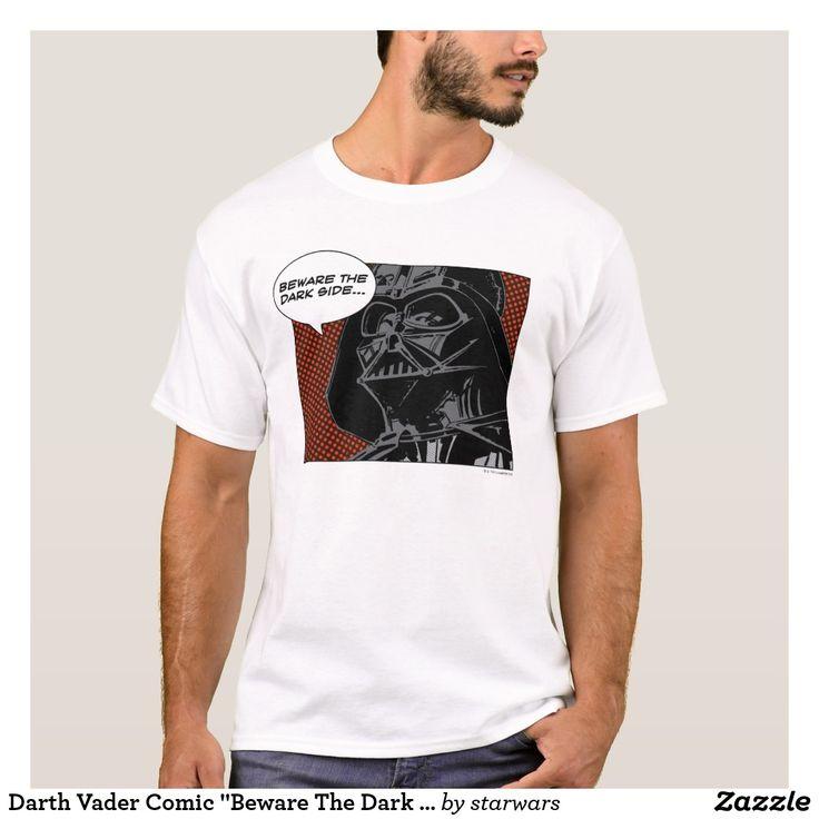 Darth vader comic beware the dark side tshirt
