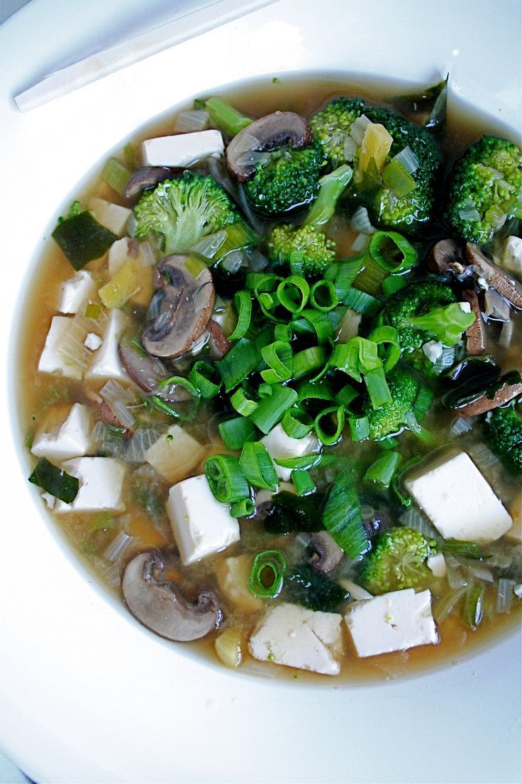 Easy miso soup - macrobiotic.