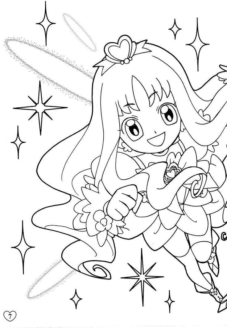 heartcatch precure coloring sheetscoloring - Anime Coloring Books