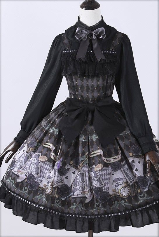 Ista Mori ~Ace & Alice~ Lolita Jumper Dress - My Lolita Dress