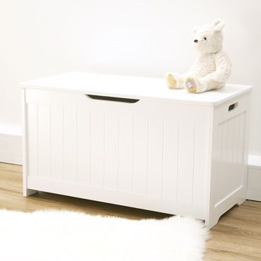 White Toy Chest, Nursery Collection In Elephant, Shop By Nursery Theme, Nursery