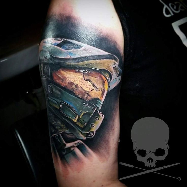 halo master chief tattoo - Google Search