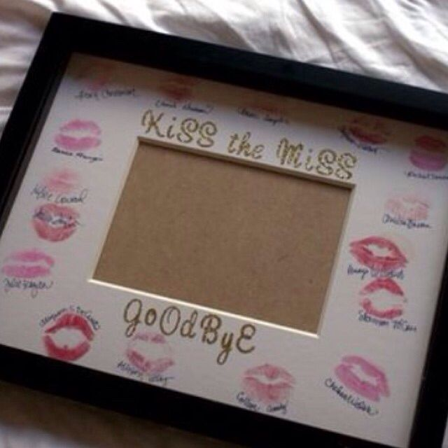 CUTE CUTE idea for a guest book for the bride from all her girlfriends