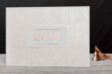 Spectacular Holiday Foil-Pressed Holiday Cards by Phrosne Ras at minted.com
