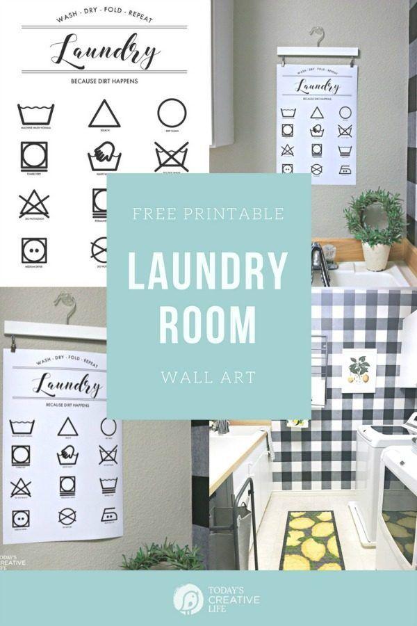 Printable Laundry Symbols Wall Art Today S Creative Life Laundry Room Wall Art Laundry Wall Art Kitchen Wall Art Printables