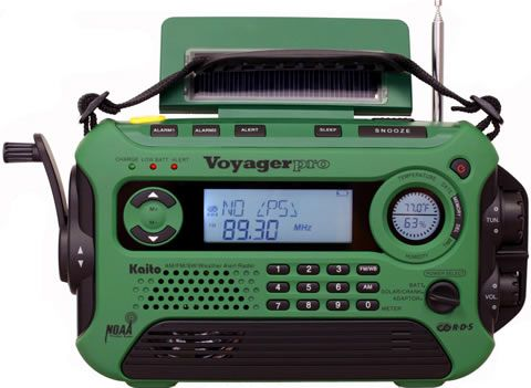 Nice! Kaito Electronics KA 600  Dynamo and Solar Powered AM/FM SW and NOAA Alert Radio with Digital Tuning and RDS on FM Stations