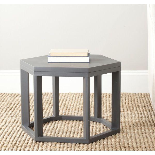 Safavieh Heidi Charcoal Grey End Table