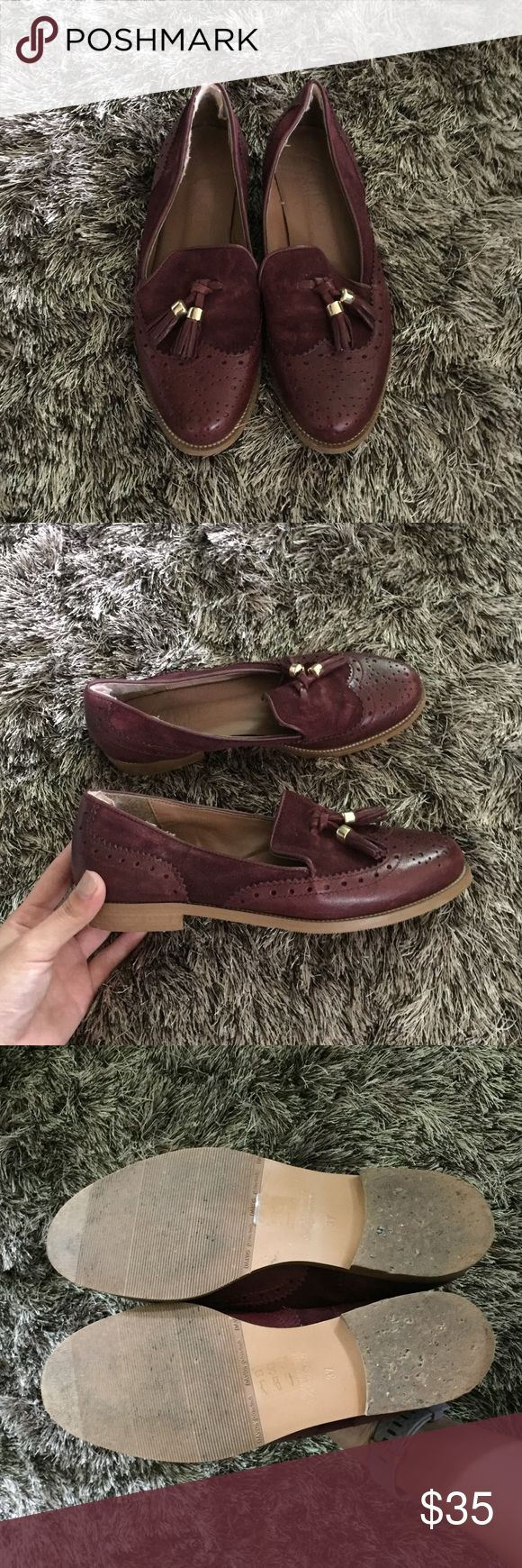 Maroon tassel loafers Really adorable/classy loafers!! They just take up space in my closet :( office brand, bought in Ireland Shoes Flats & Loafers