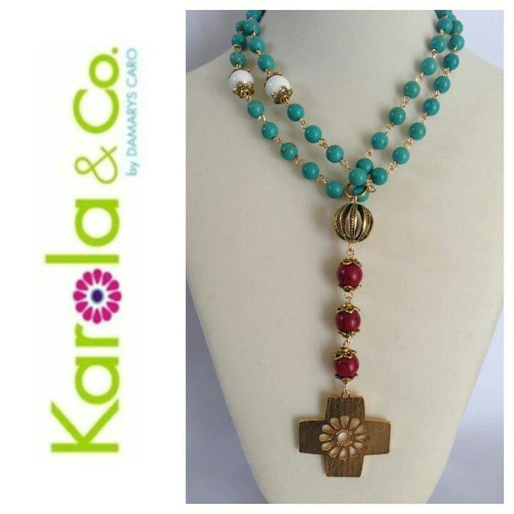 Love the colors for this necklace