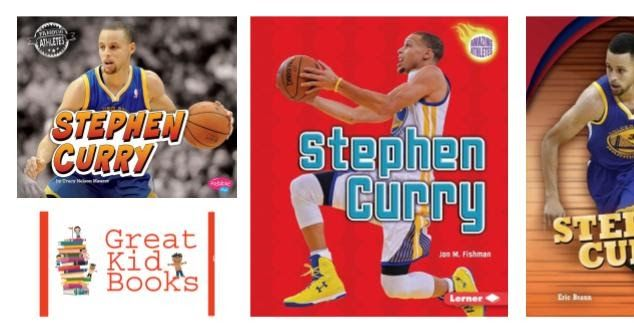 Stephen Curry & #NBAPlayoffs2017: biographies for young readers (ages 6-10)