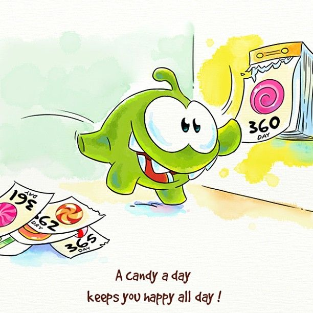 A candy a day keeps you happy all day! Cut the Rope: