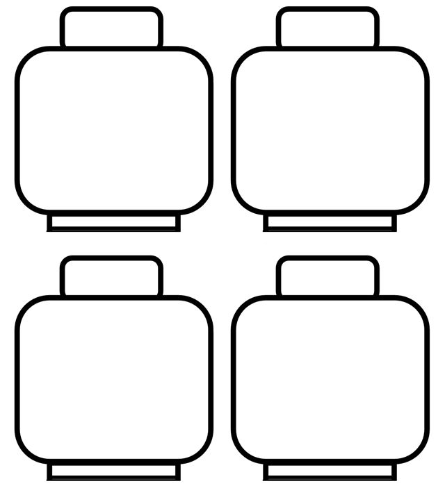paper chain-legos Lego-slingerwith clear folding and cutting - copy coloring pages lego minifigures
