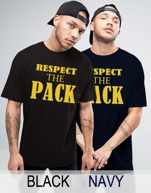 Black+Men's+Tshirt+Respect+the+Pack+Green+Bay+Packers+Wisconsin+Black+Shirt+For+Men