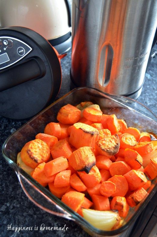 Roasted carrot and coriander soup maker recipe