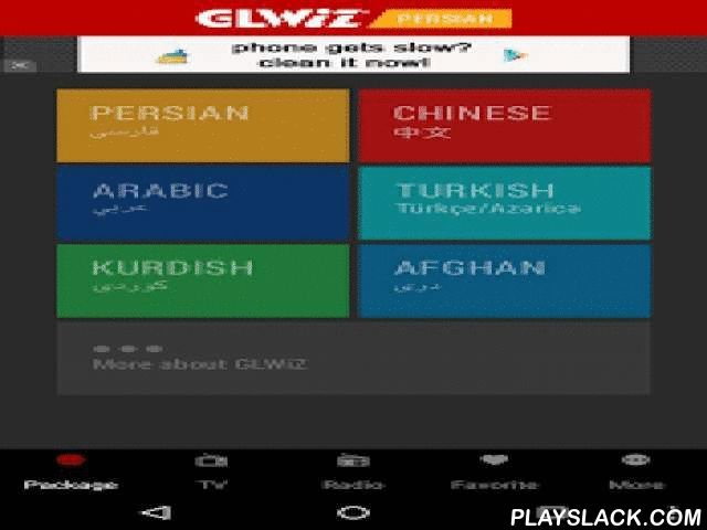 GLWiZ  Android App - playslack.com ,  ** Please Note: This App will only run on Android Phones and Tablets with Version 2.1 and above **Welcome to world's most powerful WebTV technology! GLWiZ WebTV service offers live television programming broadcasted from around the world over the high speed public internet. The GLWiZ feature-rich WebTV service provides an enhanced viewing experience in multiple languages that suits every taste and reference. GLWiZ state-of-the-art application allows for…