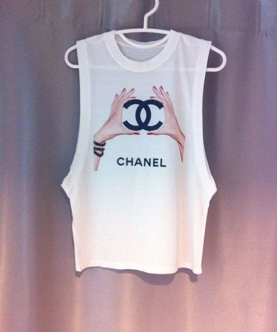 LIMITED CHANEL Hands Cutoff Tee dope swag hipster tumblr chloe fendi prada on Etsy, $18.00