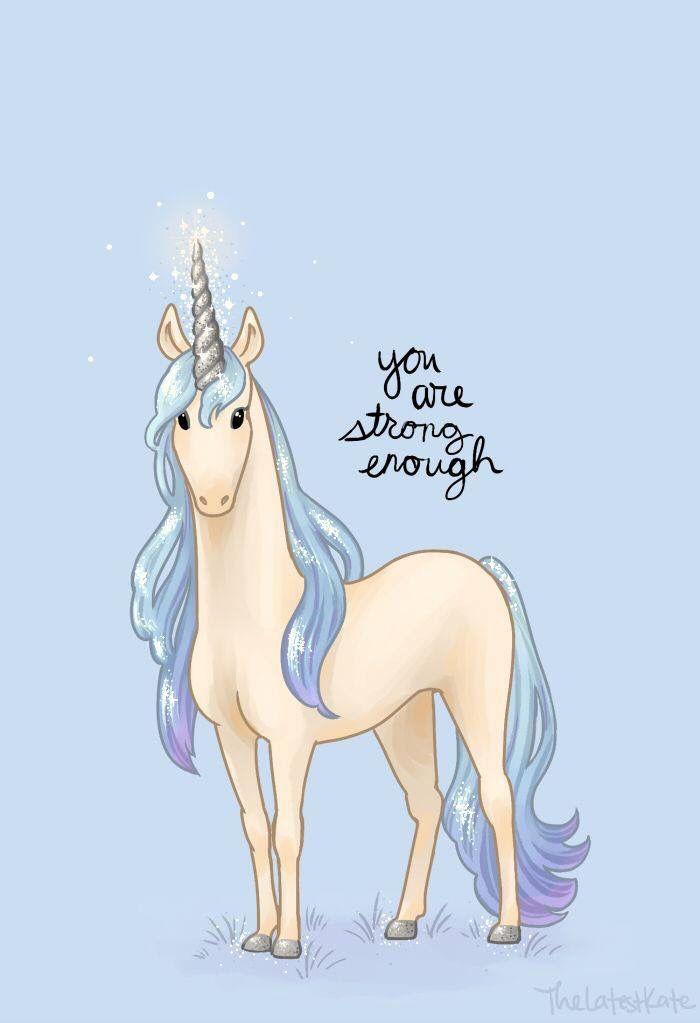 Encouragement from a little unicorn.