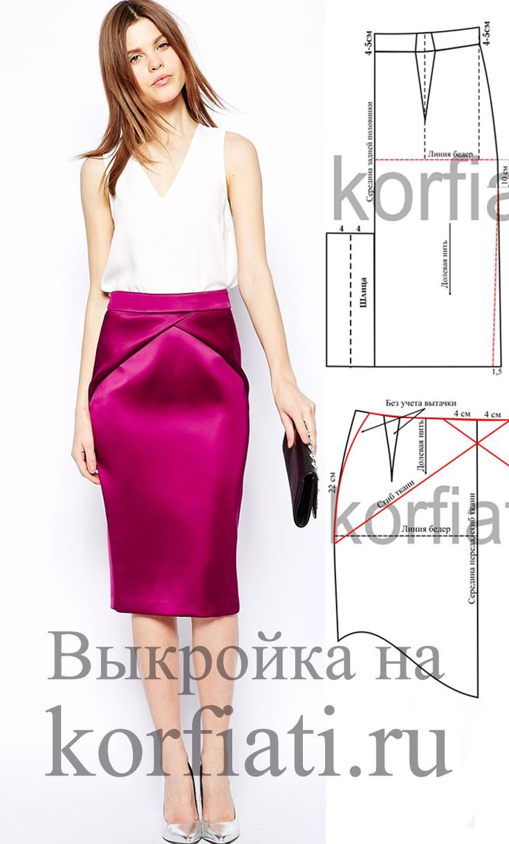 WANT THIS FOR A DRESS SKIRT, RESEMBLES MARFY JUMPSUIT Выкройка юбки карандаш со шлицей