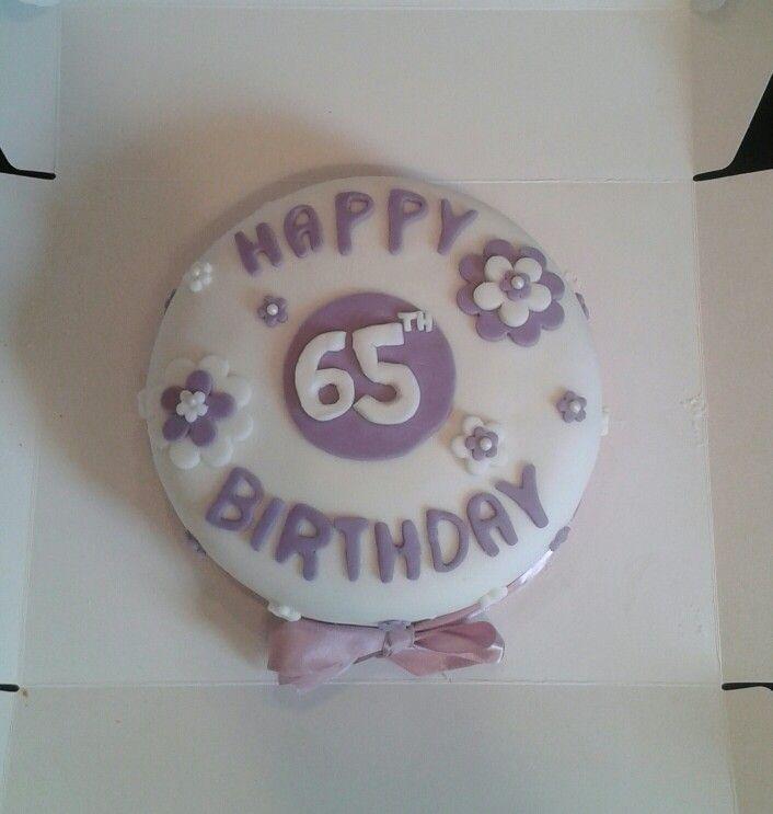 65 th Birthday Cake
