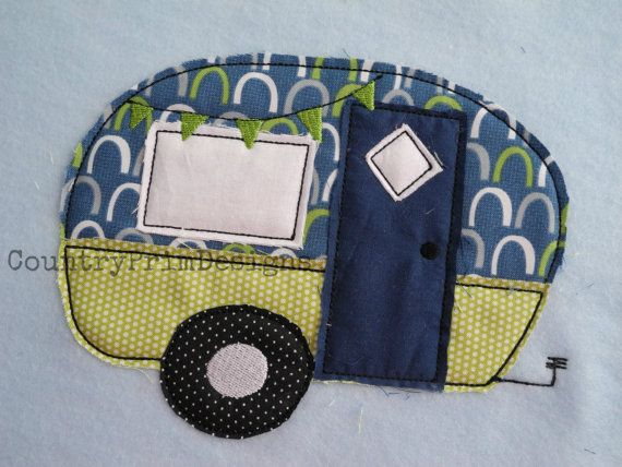 Raggy Camper Applique Easy Camper Machine Applique Design