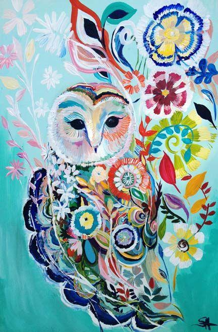 'Sunburst' by Starla Michelle Buhos y lechuzas dibujos