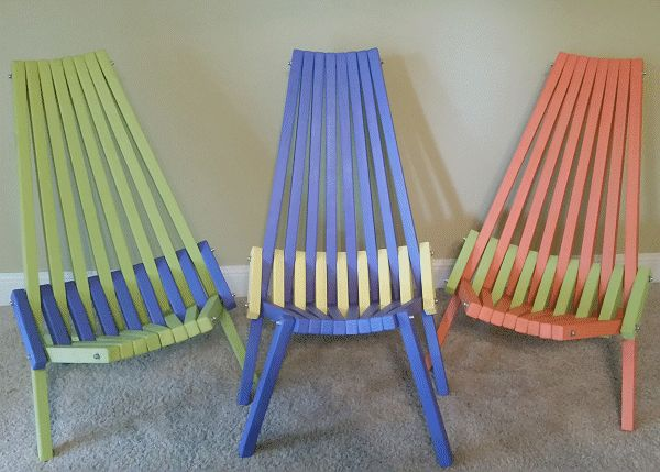 folding chair made by Jerry Doty photo 1