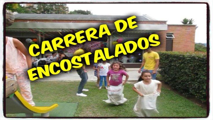CARRERA DE ENCOSTALADOS JUEGOS PARA CUMPLEAÑOS