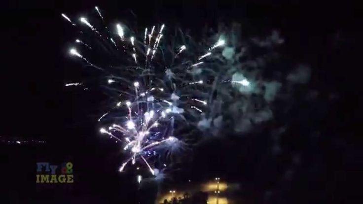 Fireworks – aerial video