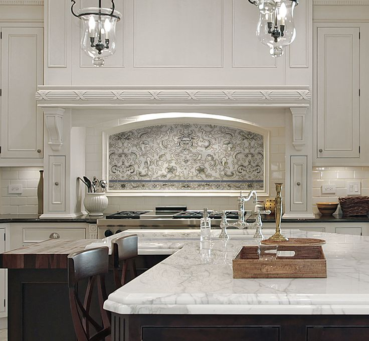 6 Kitchen Backsplash Ideas That Will Transform Your Space: Our Bellamy Mural, Featured As A Kitchen Backsplash On