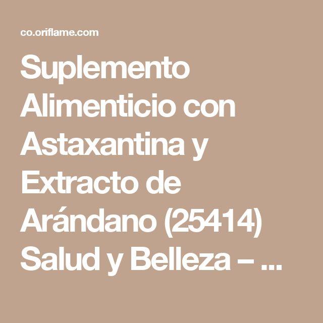 Suplemento Alimenticio con Astaxantina y Extracto de Arándano (25414) Salud y Belleza – Wellness | Oriflame cosmetics