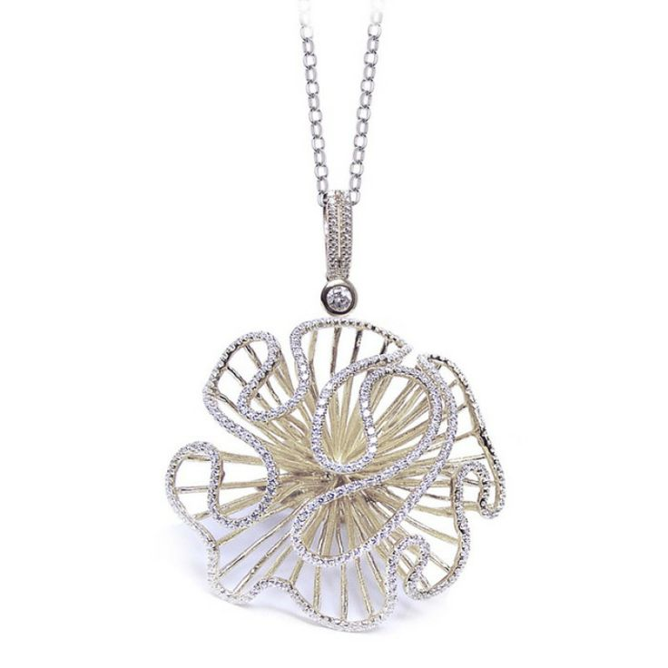 CASCADE PENDANT (LARGE) - SILVER - BY FEI LIU - SAVE £45! Regular Price: £450.00 Special Price: £405.00 #catherinejones #cambridge #gift #necklace #cascade #pendant