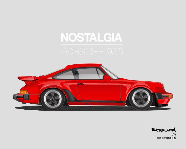 Porsche 911 (930) Art by Benslamin