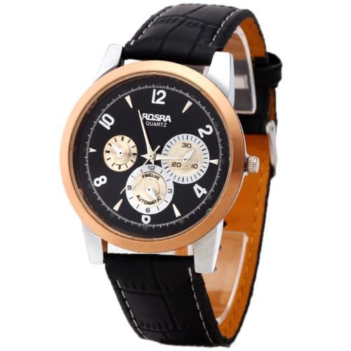 nice leather band wrist watch