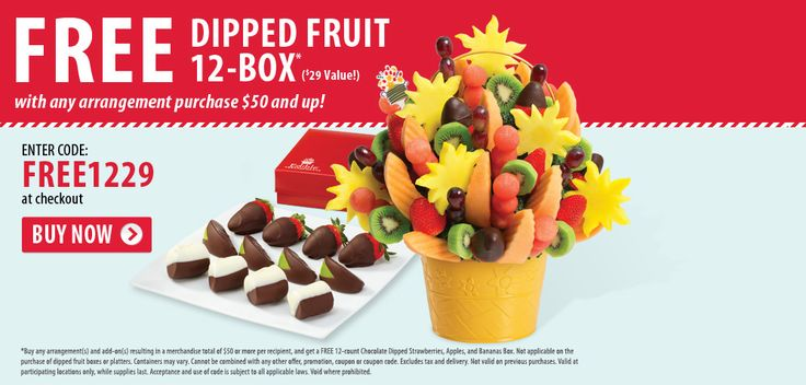 Fruit dipped box w/ $50 #purchase of Edible Arrangements #coupon code