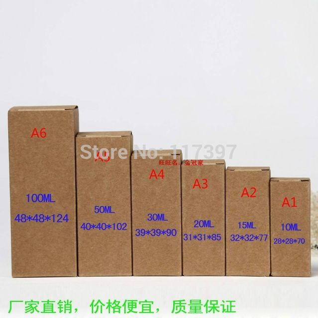 3.2 * 3.2 * 7.7 см крафт бумажные коробки ручной работы подарок ящик коробка подарок эфирное масло упаковка коробки 50 шт./лот