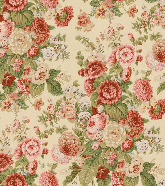 Waverly Upholstery Fabric-Sitting Pretty Antique