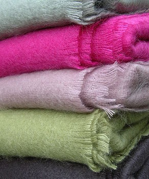 Gorgeously tactile Mohair Throw. Perfect for cosy nights in.
