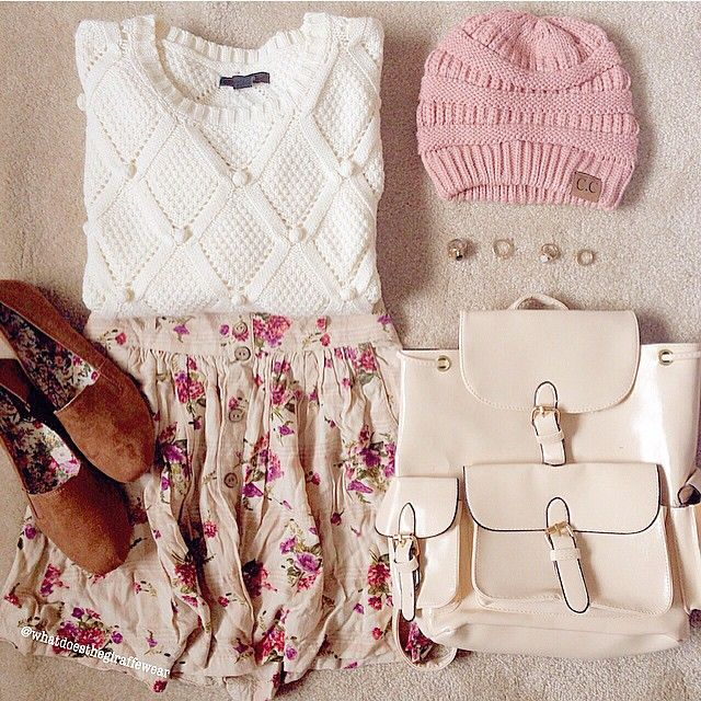 Pink, white and floral